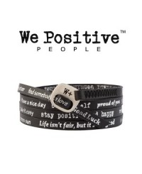 We Positive Bracciale Nero 106