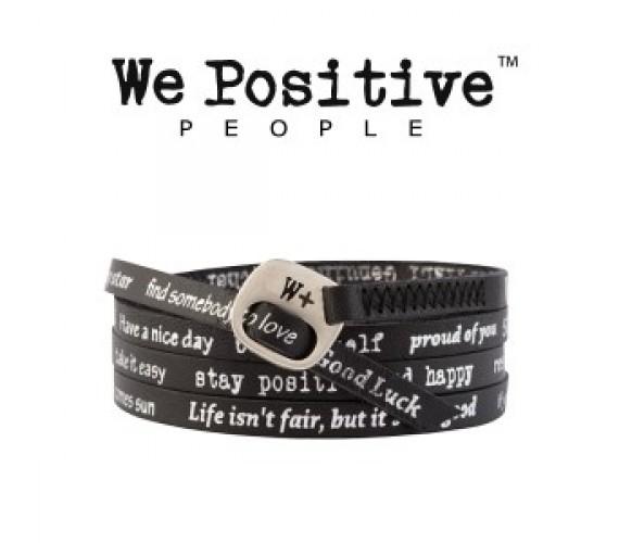 We Positive Bracciale Nero 106