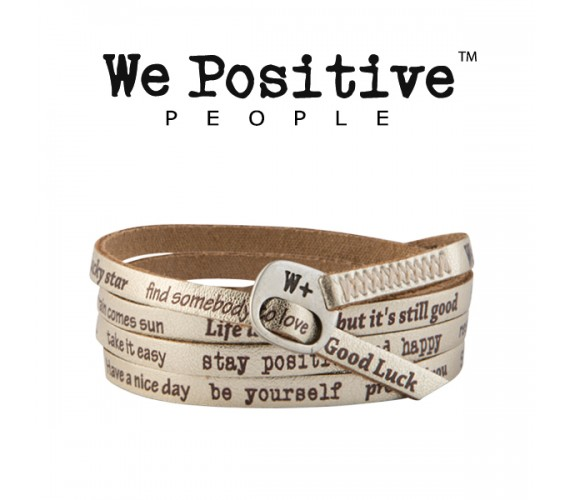 We Positive Bracciale Oro 118