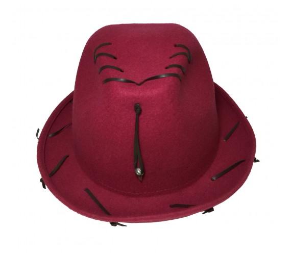 Cappello Amaranto Cuoio