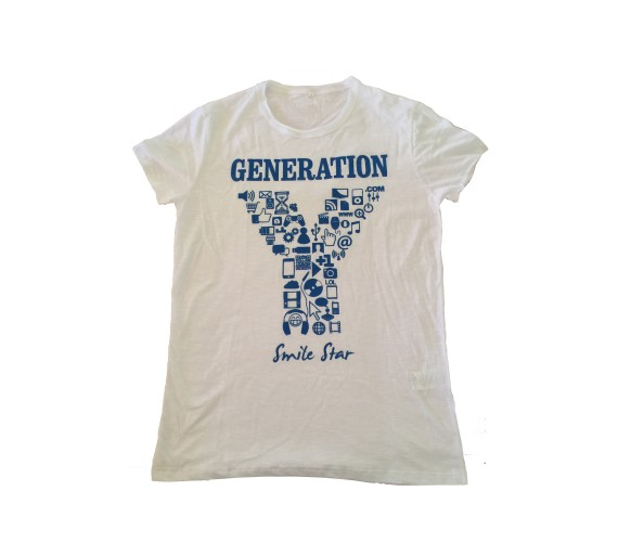 T-Shirt Smile Star Generation Donna